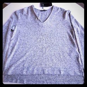Zara V Neck Crystal Beadazzled Sweater SMALL NEW!